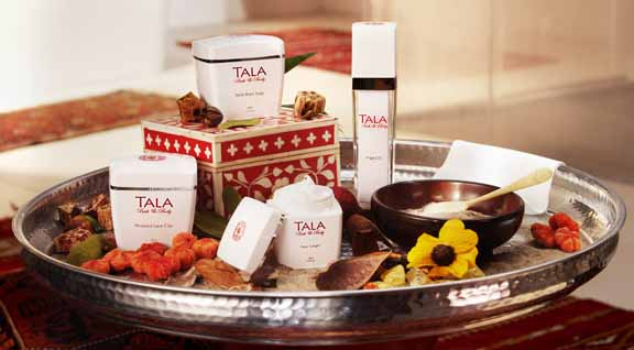 TALA Bath & Body products are not just a joy to use in your home spa, but whose exquisite packaging can endow your bath with exotic flare.