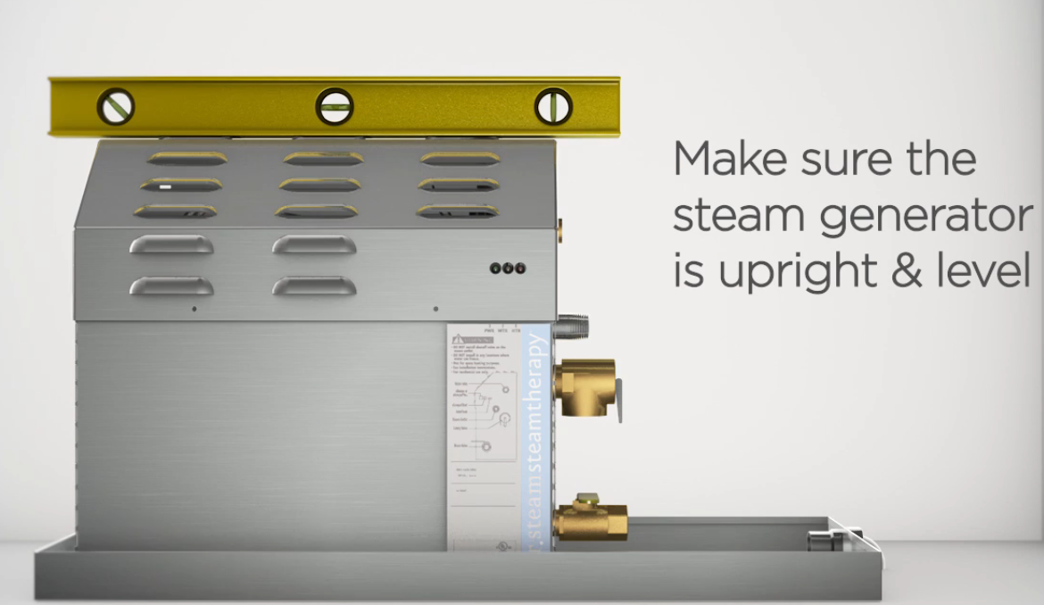 The licensed electrician can position the steam generator in a variety of places