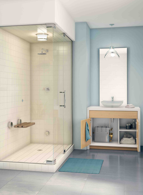 Yes you can have a steam shower in a small bathroom for Steam shower bathroom ideas