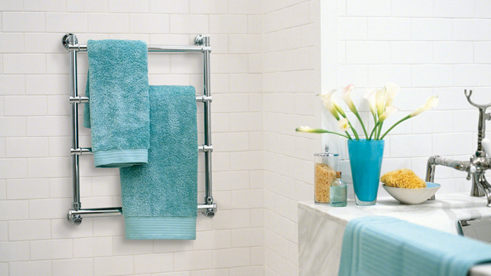 After your steam shower, wrap yourself in a deliciously toasty towel, warmed on a MrSteam towel warmer.