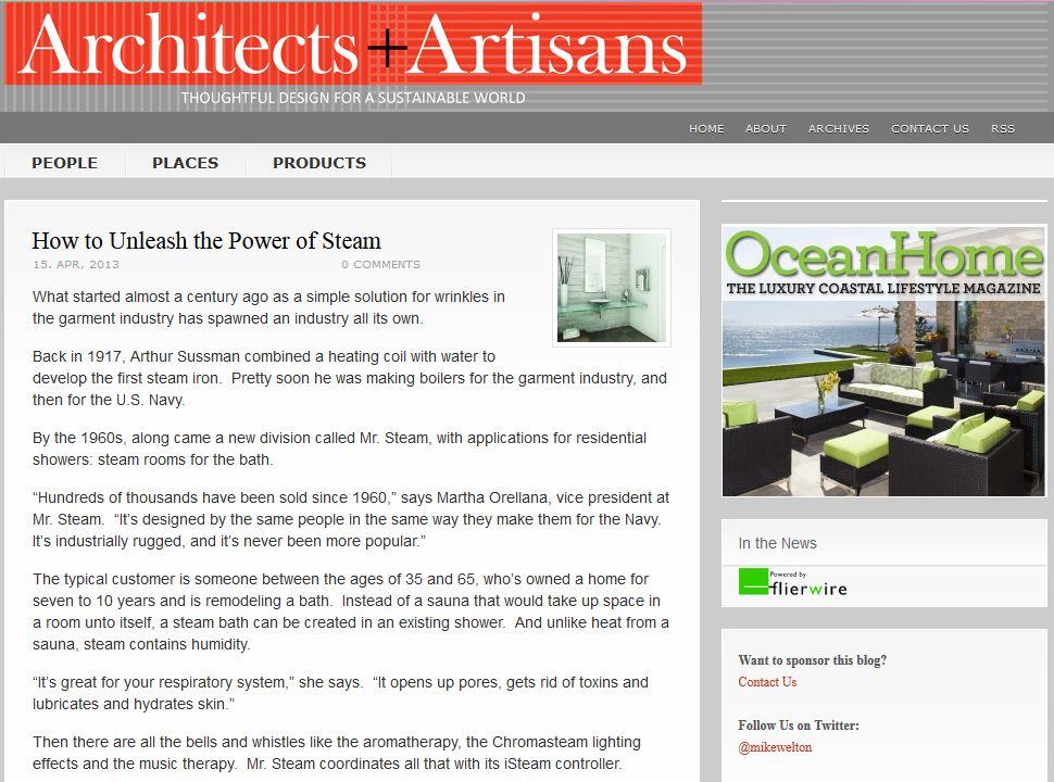 Benefits of steambathing Architects Artisans