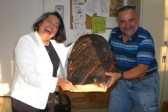 Martha Orellana with Ben Cavanna