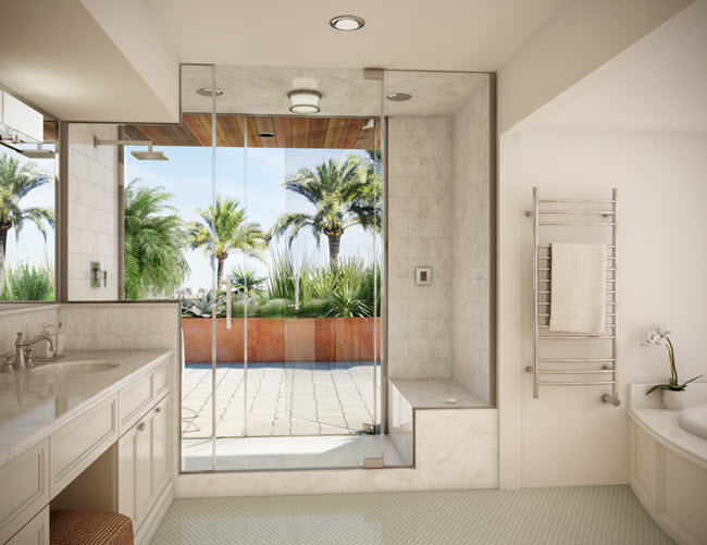 Buyers want spa-like bathrooms with steam showers