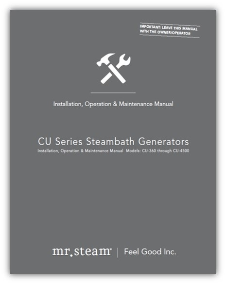 MrSteam's commercial installation manual lays out a detailed plan for maintenance on all of their generators.