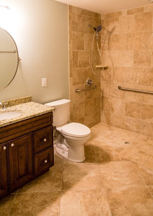 Some grab bars match towel racks and other fixtures.