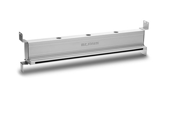 The innovative design of the linear steam head results in a significant reduction in noise and better distribution of steam inside the steam room.
