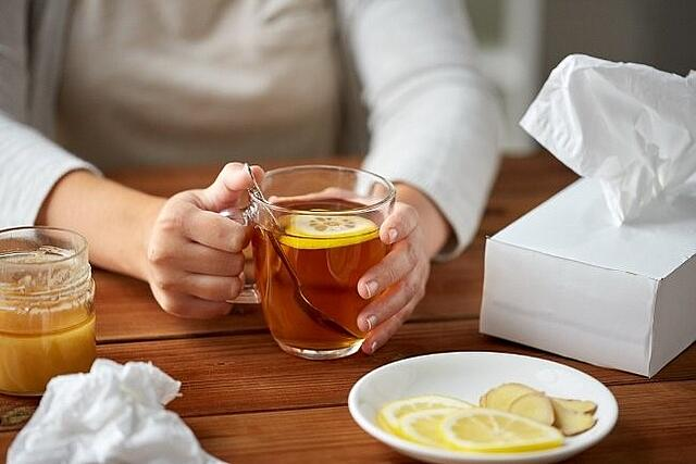 Herbal tea can be great for calming allergies.