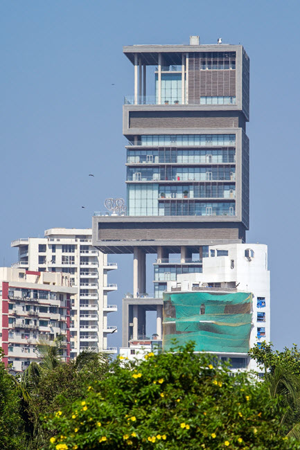 Mumbai's Antilia features steam showers by MrSteam