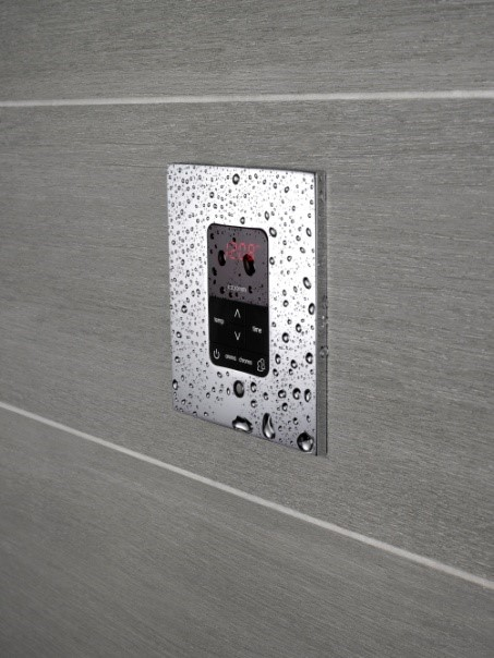 With MrSteam, you can match the steam head and control to the faucets and hardware in your bathroom