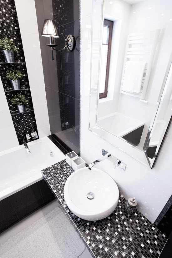 White and neutrals make the room feel bigger and brighter, and are also associated with cleanliness.