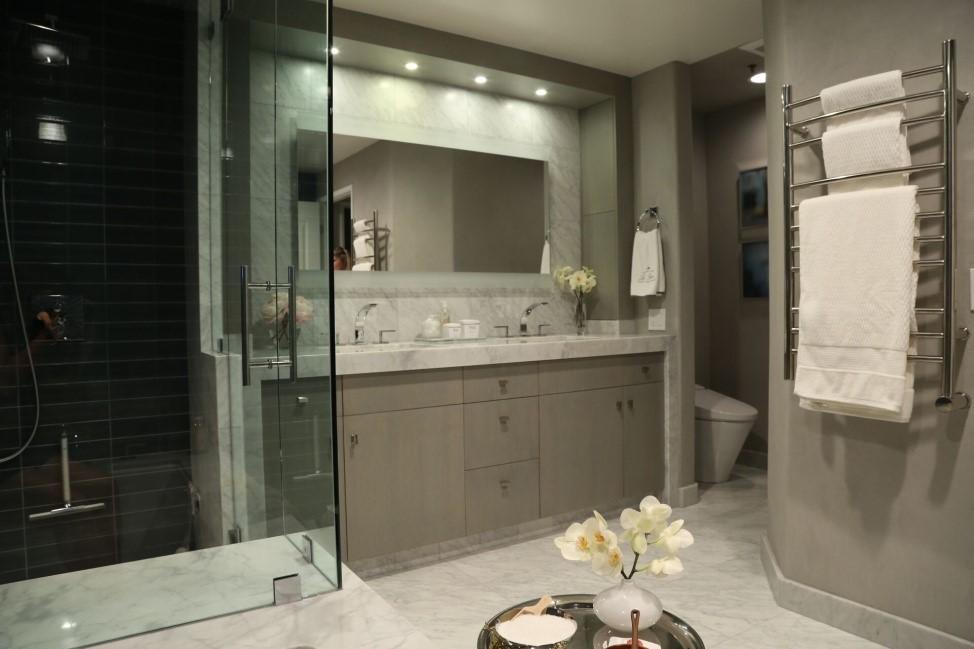 Mrs. Steam's exquisitely designed master bathroom
