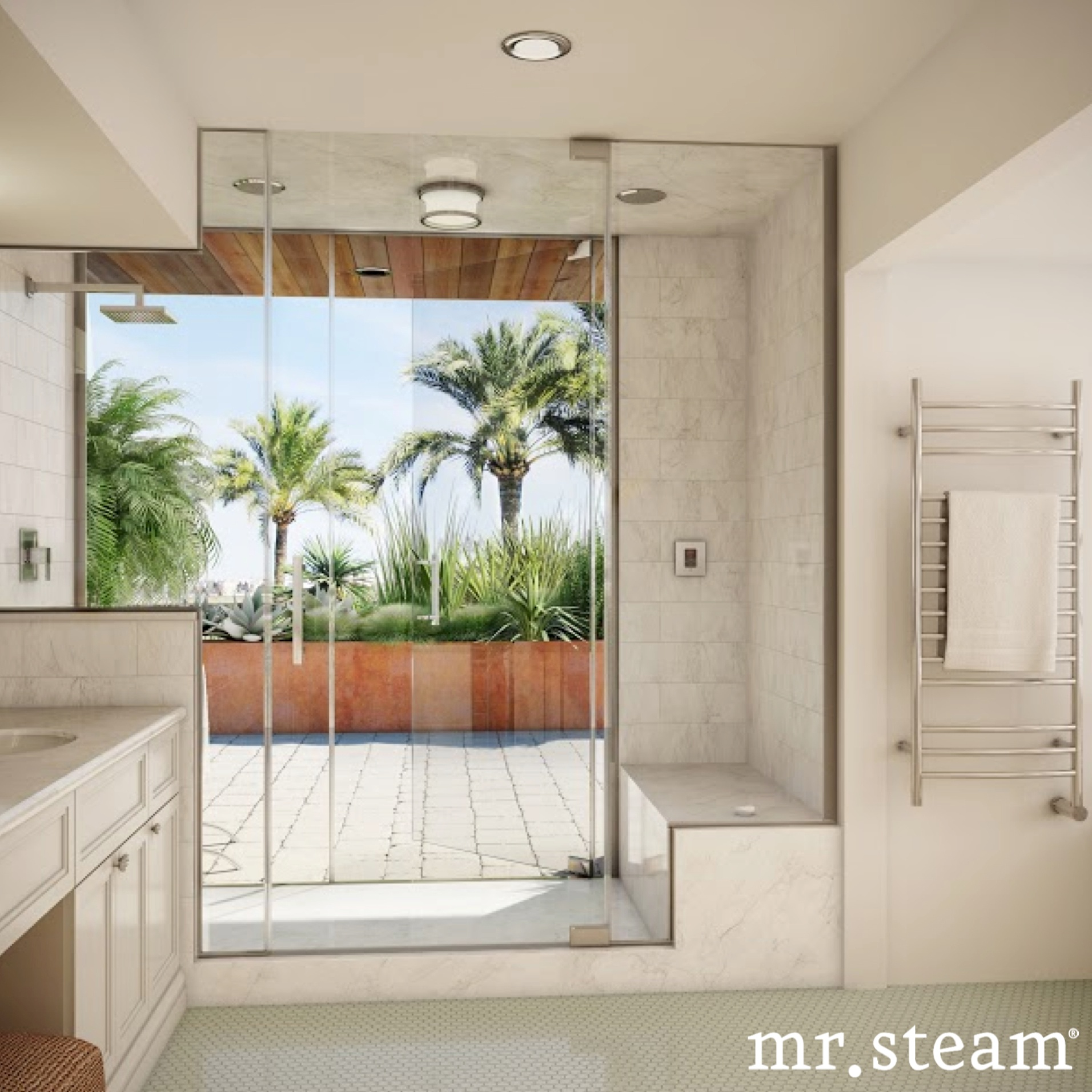 Two Types of Steam Shower Windows to Seal
