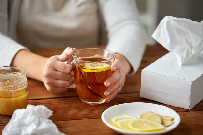 SteamTherapy tip to combat congestion: Drink hot liquids, such as tea or that old standby, chicken soup.
