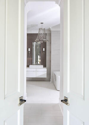 Case Study: Arianne Bellizaire Interiors Entry to Bathroom