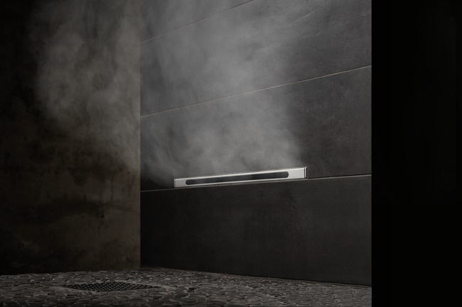 Choose between traditional, single-exit-point steam heads or the sleek Linear SteamHead, which is flush to the wall for a clean and uncluttered design.
