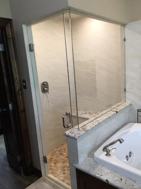Brass-free remodeled MrSteam steam shower