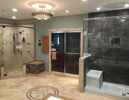The Wolff Bros. Showroom has working steam and shower displays