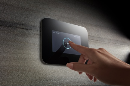 The new iSteam3 home SteamShower Control from MrSteam offers enhanced luxury options for customization, including a choice of black or white screen modes, as well as six language options.