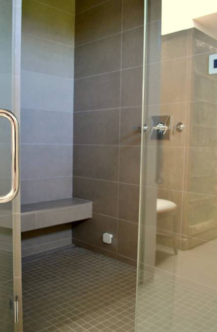 Have a bench in your home steam shower