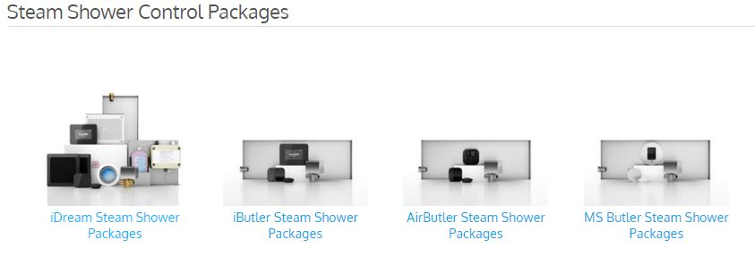 You'll find convenient steam control packages: iDream, iButler, AirButler, MS Butler