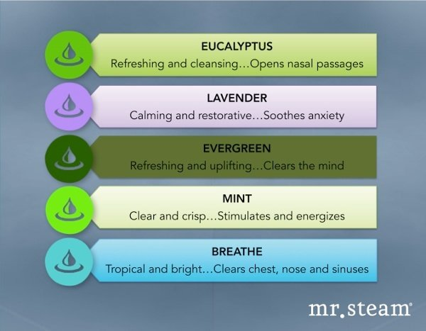 Customize That Steam Wellness Retreat! with AromaTherapy