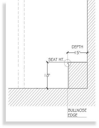 Be sure to include bench seating in the steam shower