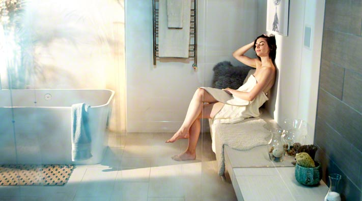 Unwind with a steam shower when you get home