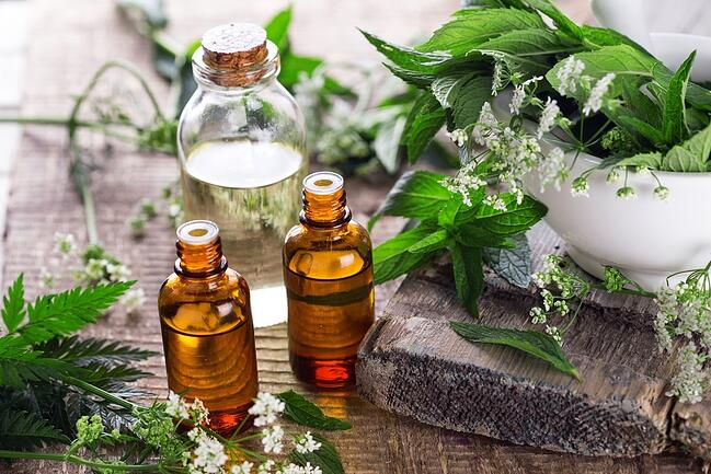 Essential oils can promote peace and serenity.