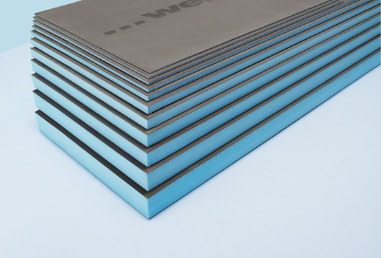 wedi® board is a waterproof, rigid foam tile substrate and building panel