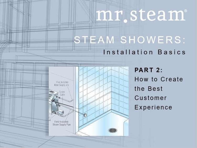 Steam Shower Installation Basics From MrSteam